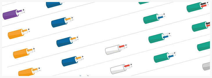 Kleurcombinaties van thermokoppels